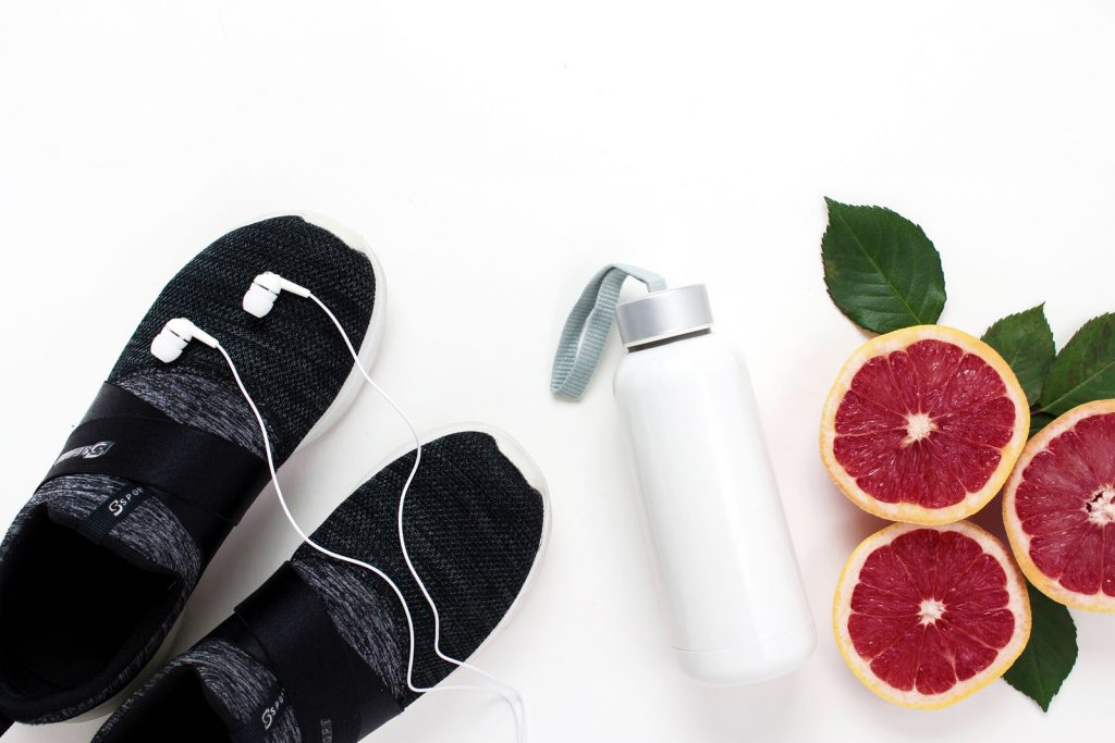 water bottle-footwear-fruits