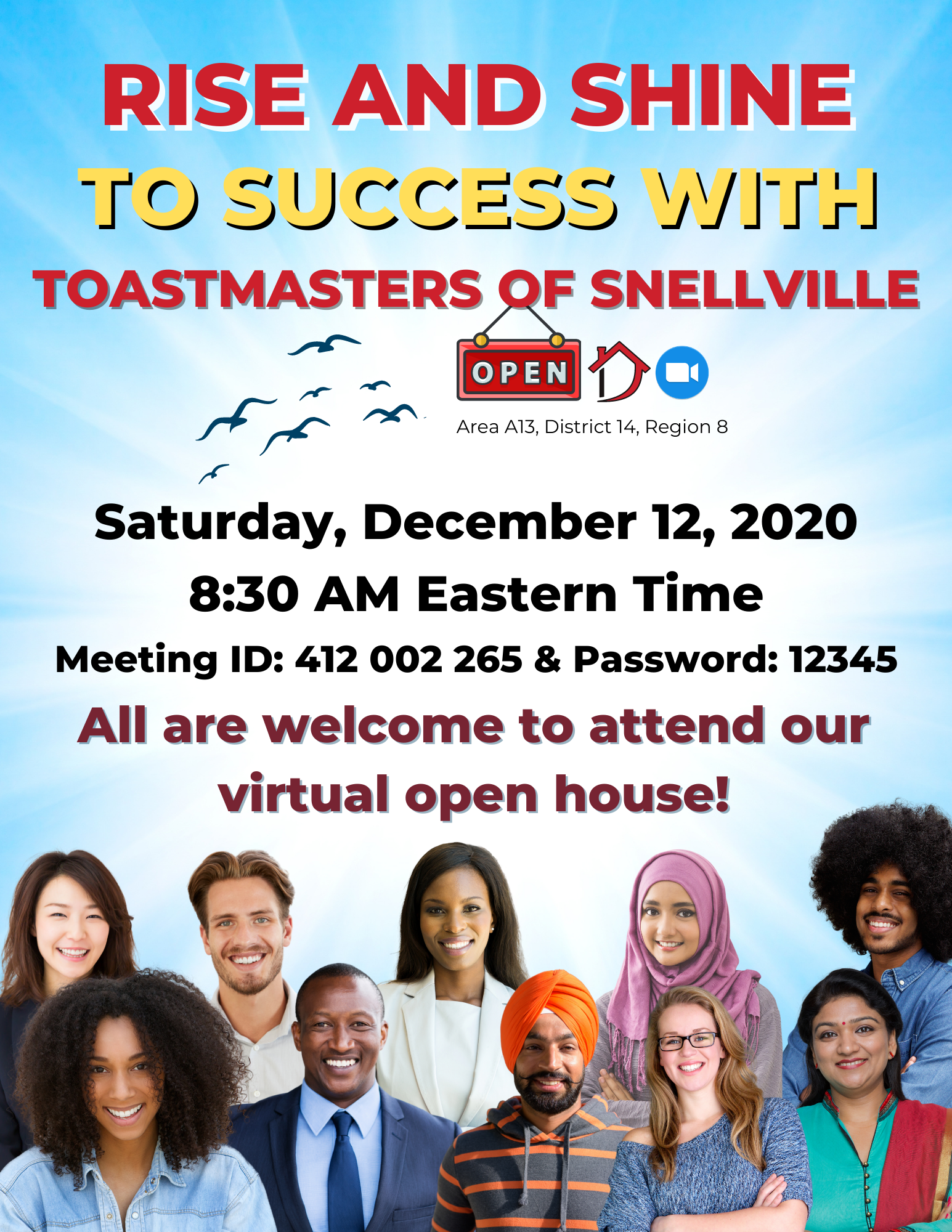 Rise and Shine to Success_Toastmasters of Snellville Open House